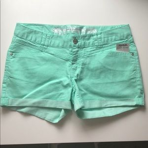 NWT Express Jean Shorts- Mint Green Size: 8
